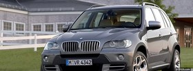 free x5 bmw silver car facebook cover