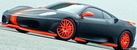 black and orange ferrari car facebook cover