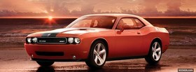 dodge challenger srt8 car facebook cover