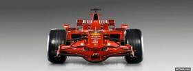ferrari f1 car facebook cover
