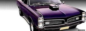 purple 1967 pontiac gto facebook cover