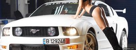 free white mustang and model facebook cover