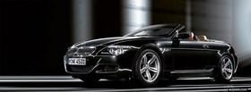 bmw m6 cabriolet black facebook cover