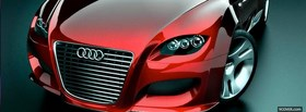 red audi close up facebook cover