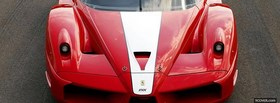 white on red ferrari fxx facebook cover