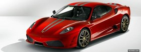 front view of ferrari 430 scuderia facebook cover