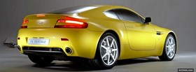 aston martin v8 vantage yellow facebook cover