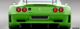 green ferrari car facebook cover