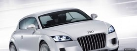 white audi shooting brake facebook cover
