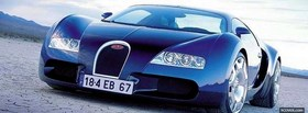blue bugatti car facebook cover