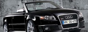 black convertible audi car facebook cover