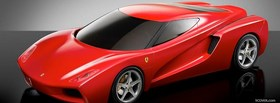red ferrari design car facebook cover