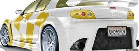 free white and yellow mazda car facebook cover