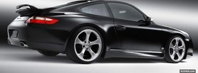 black porsche 911 carrera facebook cover