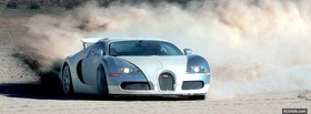 bugatti veyron in the sand facebook cover