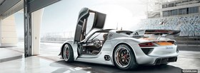 porsche 918 car facebook cover