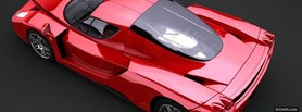 red ferrari enzo car facebook cover