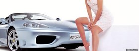 sexy woman and car facebook cover