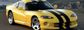 yellow dodge viper gts coupe facebook cover