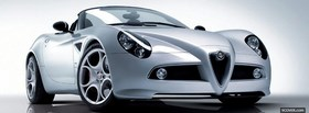 alfa 8c spider car facebook cover