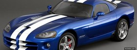 blue and white dodge viper facebook cover