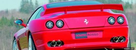 back of red ferrari novitec facebook cover