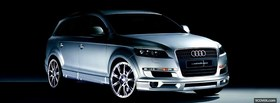 q7 silver audi car facebook cover