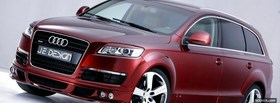 red audi q7 car facebook cover