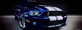 white line ford mustang facebook cover