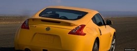 yellow nissan car facebook cover