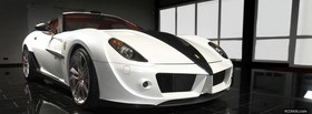 white ferrari 599 car facebook cover