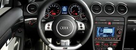 audi rs4 interior car facebook cover
