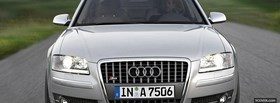 audi s8 silver car facebook cover