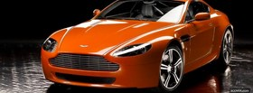 orange aston martin car facebook cover