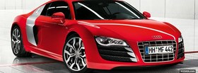 red audi quattro car facebook cover