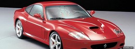 red ferrari maranello car facebook cover