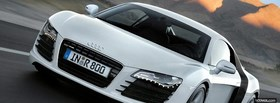white audi r8 outside facebook cover