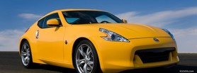 free nissan yellow 370 z facebook cover