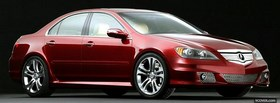 red 2006 acura rl facebook cover