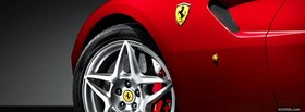 red ferrari car wheel facebook cover