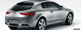 silver alfa romeo car facebook cover