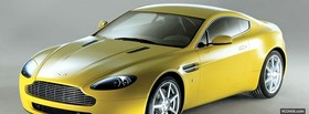 aston martin vantage yellow facebook cover