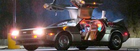 back to the future delorean facebook cover