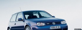blue volkswagen car facebook cover