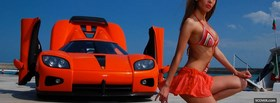 free koenigsegg cccx and woman facebook cover