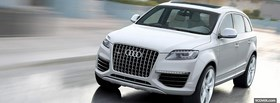 white audi q7 outside facebook cover
