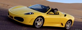 ferrari f430 spider yellow facebook cover