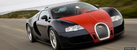 red and black bugatti veyron facebook cover