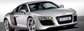 audi r8 silver car facebook cover