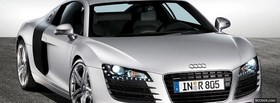 front silver audi r8 car facebook cover